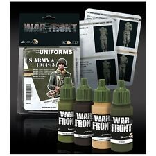 Scale 75 War Front US ArmyUniforms 1944-45 WW2 Acrylic Paint Set 4 Bottles