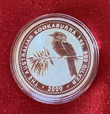 2000  Australian KOOKABURRA 1oz Silver coin BU (in capsule)