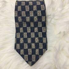 "Peter Thomas Superba 100% Italian Silk Bluish Gray Tie 58.5"" L x 4"" W USA"