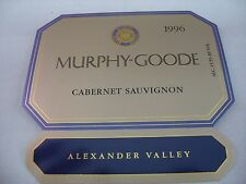 Wine Label: MURPHY GOODE 1996 Cabernet Sauvignon Alexander Valley California