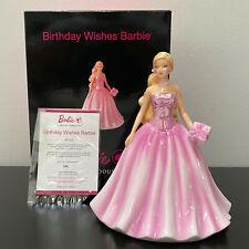 "Royal Doulton Birthday Wishes Barbie 6.75"" Figurine Bone China Hn5532 Limited Ed"
