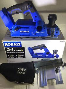 """NEW Kobalt KPL 124B-03 24V MAX Brushless 3 1/4"""" Planer (TOOL ONLY)"""