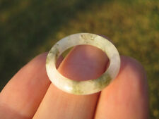 Natural green Jade ring Thailand jewelry stone mineral art size 6.75 A29