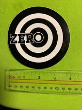 4� Black And White Zero Bullseye Sticker 4 Pcs