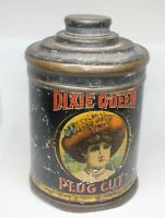 Vintage Dixie Queen Cut Plug Tobacco tin