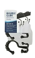 Metal Double Roller Glide Shower Curtain Ring Hooks Oil Rubbed Bronze…