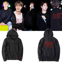 Kpop BTS Love Yourself World Tour Cap Bangtan Boys Hoodie Outwear Zipper Coat
