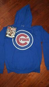 CM Punk Hoodie + Best In The World Blu-Ray Chicago Cubs WWE Sweater Sweatshirt