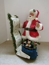Clothtique Possible Dreams Santa.A Lengthy List.713746.Nib.Musical.# 10