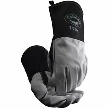 Caiman 1504 Welding Gloves 1504-1 Mig / Stick Cow Split Fr Duck Cuff Kontour