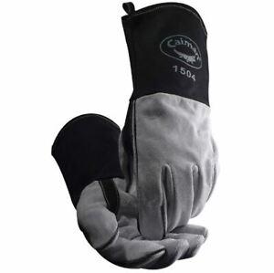 Caiman 1504 Welding Gloves 1504-1 MIG / STICK COW SPLIT FR DUCK CUFF KONTOUR