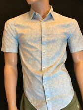 Hugo Boss Casual Brodi-s Slim Fit Stretch Short Sleeve Shirt Size S Gift