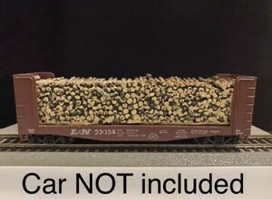 HO 40' Pulpwood Flatcar LOADS For Athearn Pulpwood Flatcar Car Not Included