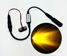 Micro Effects Sunset Amber LED Light & Control Flash Blink Dim 9V MEL-SA1-D-9VB