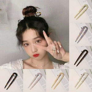 U Shaped Hair Pins Stick French Hair Clips Tortoise Shell Hairstyle Accessories