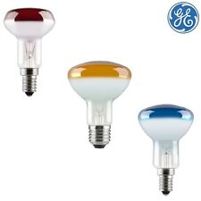 GE Coloured R50 40w E14 (SES) / E27 (ES) MIH Reflector Lamp Red / Yellow / Blue