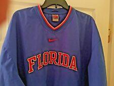 NIKE MEN'S FLORIDA BLUE AND ORANGE V-NECK WINDSHIRT SIZE L