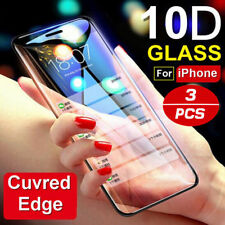 10D Full Cover Real Tempered Glass Screen Protector Film For iPhone X XS Max XR