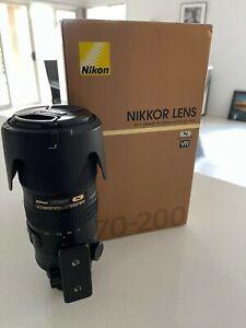 Nikon Nikkor 70-200mm f/2.8 G ED VR II Lens (Excellent condition - No marks)