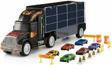 Transport Car Carrier Truck Toy for Boys & Girls (includes 6 cars)