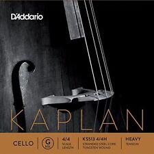 D'Addario Kaplan Cello Single G String, 4/4 Scale, Heavy Tension