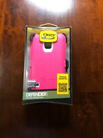 OtterBox Defender Series Case for Samsung Galaxy S5 - Neon Pink/White