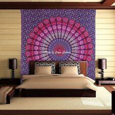 Pink & Purple Mandala Indian Peacock Wall Hanging Bohemian Tapestry Hippie Queen