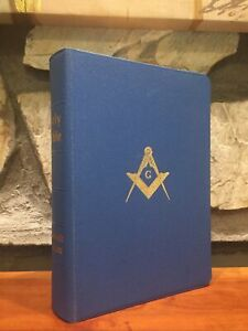 Masonic Edition Holy Bible Great Light Masonry  Blue Vintage 1957 Mason KJV NC