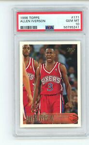 1996-97 Topps Allen Iverson #171 PSA 10 GEM MINT Rookie RC Basketball Card