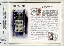 DOCUMENT CEF PREMIER JOUR 1983  TIMBRE N° 2271 LE CINEMA EUROPA