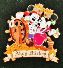 New listing Disney Pin Ship Ahoy Mickey Minnie Mouse Auctions Exclusive Limited Edition 100