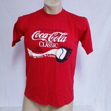 VTG 1986 Coca Cola Classic Olympuc T Shirt 80s Baseball Tee 50/50 Soda USA Large