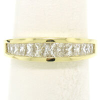Honora 18K Gold 1.25ctw Channel Elongated Princess Diamond Graduated Band Ring