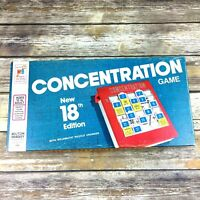 Vintage 1975 Concentration Game 18th Edition Milton Bradley Complete EUC 2