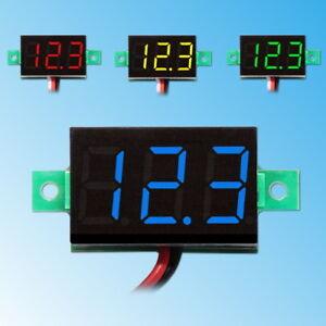 Voltmètre 3-30V DC Afficher LED Testeur Tension Numérique Mini Voltage Meter