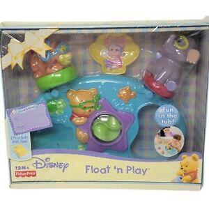 Disney Pooh Babies Float N Play Bath Tub Toy Set Tigger Piglet Heffalump Gift