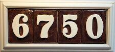 New listing Address Plaque. Weatherproof Pvc and fadeproof tiles. Coppertone glaze