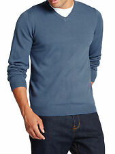 M&S INDIGO V-Neck Long Sleeve Knitted Jumper