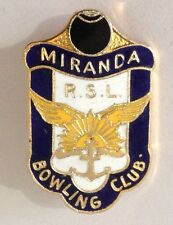 Miranda RSL Bowling Club Badge Pin Vintage Lawn Bowls (L34)