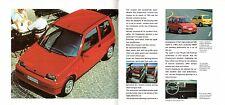 Fiat Cinquecento Sporting 1994-95 UK Market Preview Foldout Sales Brochure