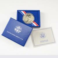 1 1991 D Korean War Memorial $1 Commemorative MS//UNC Silver Dollar w// COA /&Box