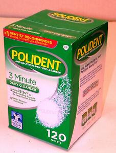 SEALED Polident GSK ANTIBACTERIAL 3-MINUTE DENTURE CLEANSER CLEANER: 120 TABLETS