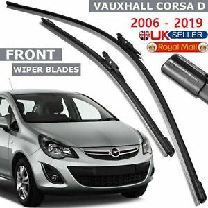 "Corsa D Wiper Vauxhall 2006-2019 16""26"" Front Windscreen Aero Flat Blades Set UK"