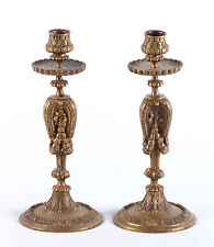 Pair of 19th Century Ornate Bronze Candlesticks