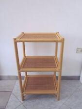 mobile vimini 3 ripiani, comodino alto, vimini, rattan bamboo