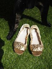 *** Miu Miu by Prada*** Gold Ballerina Brokat Schläppchen Gr. 39