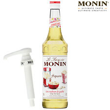 MONIN Coffee Syrups - 70cl Glass POPCORN Syrup & Pump Set - USED BY COSTA COFFEE