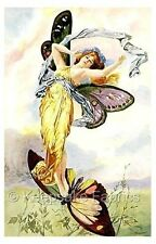Butterfly Fairy in Gold Fabric Block Multi Sizes FrEE ShiPPinG WoRld WiDE