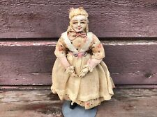 Antique Early French Cloth RAVCA Doll Old Woman FRANCES ELINOR DIECKS 8""