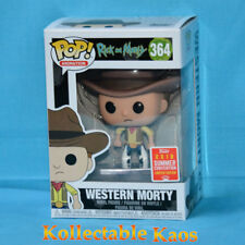 2018 SDCC SCE Funko Pop Western Morty #364 and Rick Vinyl Figure